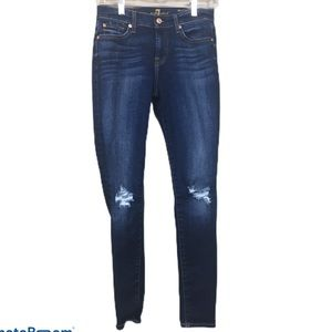 7 for all man kind the skinny ankle blue jeans